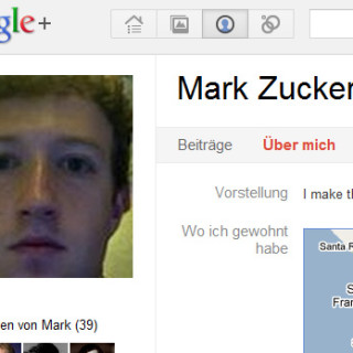 Mark Zuckerberg auf Google Plus