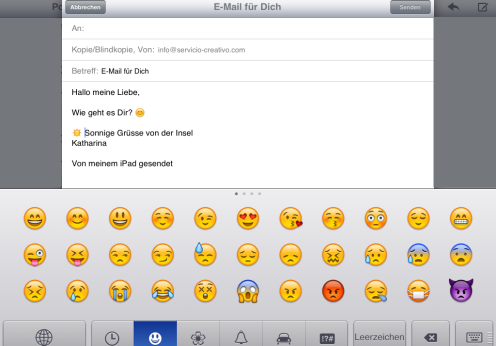 Emoticons iPad