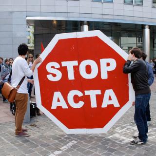 STOP ACTA (Foto: MEP Josef Weidenholzer/Flickr)