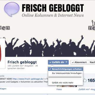 Frisch-gebloggt.de bei Facebook